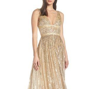 Designer MacDuggal Gold gown